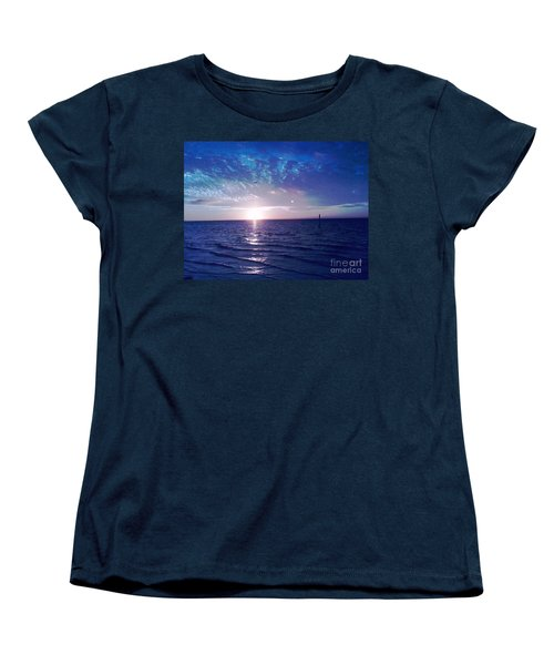 Blue Sunset Women's T-Shirt (Standard Cut) by Vicky Tarcau