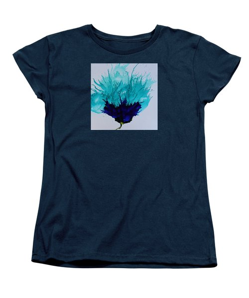Blue Thistle Women's T-Shirt (Standard Cut) by Suzanne Canner
