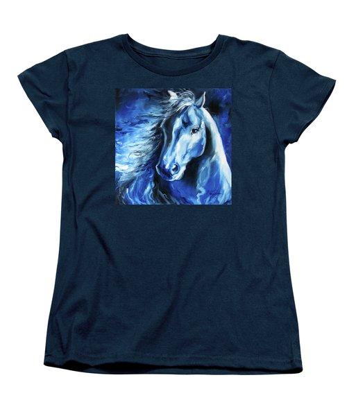 Blue Thunder  Women's T-Shirt (Standard Cut) by Marcia Baldwin