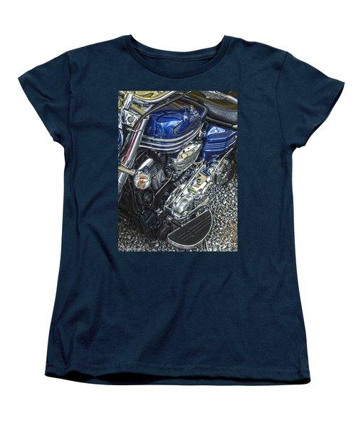 Blue Warrior Hdr Women's T-Shirt (Standard Cut) by Diane E Berry