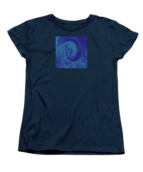 Women's T-Shirt (Standard Cut) featuring the digital art Blue Wave by Kerri Ligatich