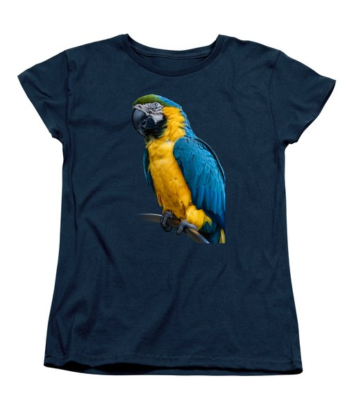 Blue Yellow Macaw No.1 Women's T-Shirt (Standard Cut) by Mark Myhaver