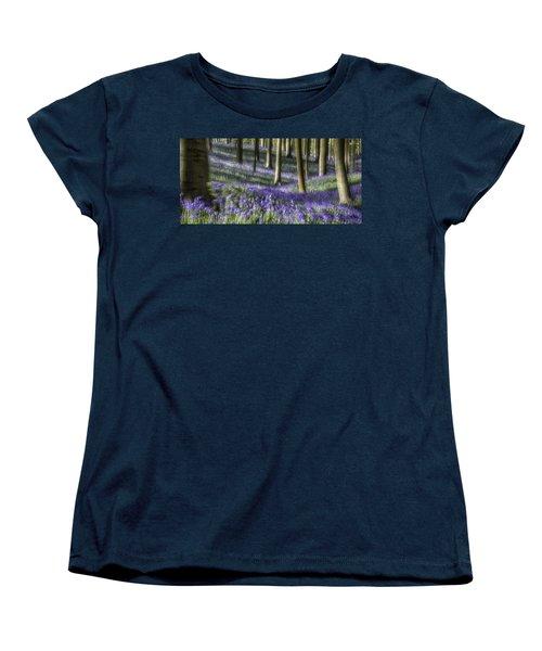 Bluebell Forest Color Explosion Women's T-Shirt (Standard Cut) by Dirk Ercken