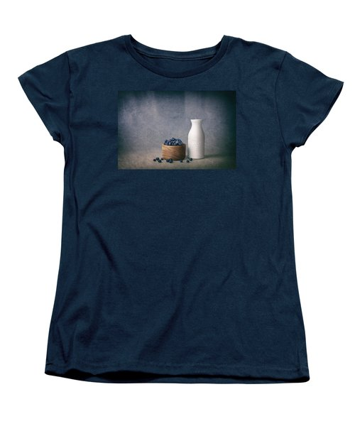 Blueberries And Cream Women's T-Shirt (Standard Cut) by Tom Mc Nemar