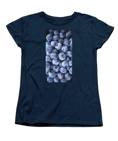 Blueberries Foodie Phone Case Women's T-Shirt (Standard Cut) by Edward Fielding