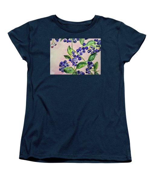 Blueberries Women's T-Shirt (Standard Cut) by Kim Nelson