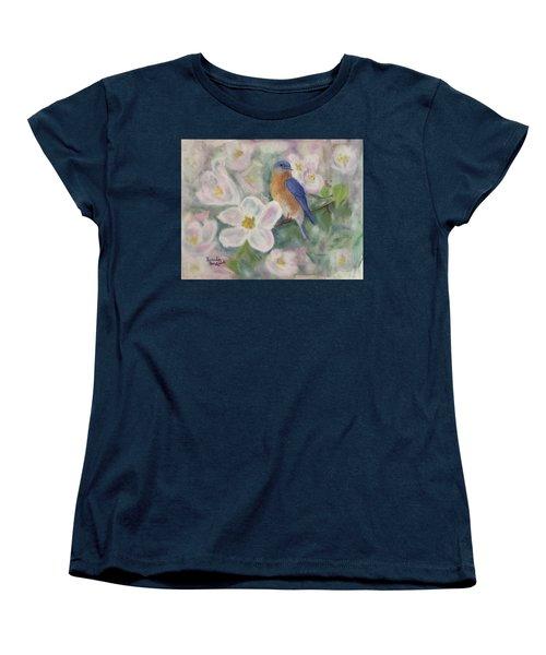 Bluebird Vignette Women's T-Shirt (Standard Cut)