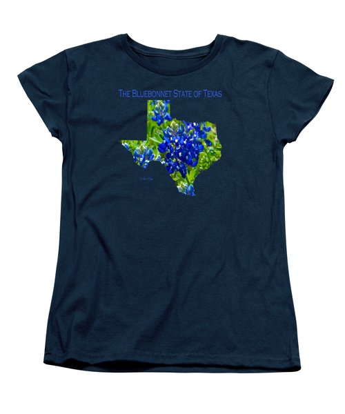 Bluebonnet State Of Texas - T-shirt Women's T-Shirt (Standard Cut) by Robert J Sadler