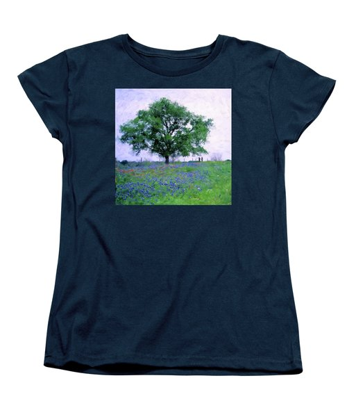 Bluebonnet Tree Women's T-Shirt (Standard Cut)