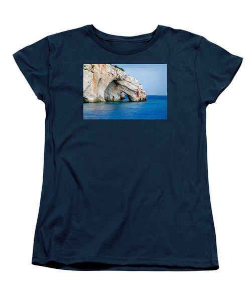 Bluecaves 3 Women's T-Shirt (Standard Cut) by Rainer Kersten