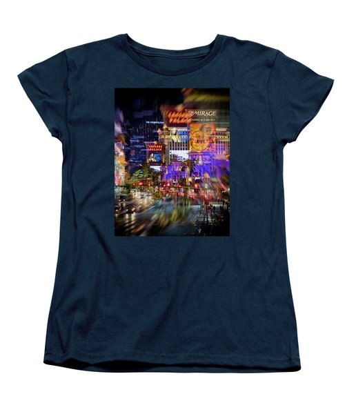 Blurry Vegas Nights Women's T-Shirt (Standard Cut)
