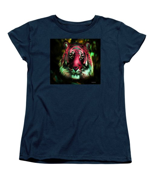 Women's T-Shirt (Standard Cut) featuring the photograph Blushing Tiger by George Pedro