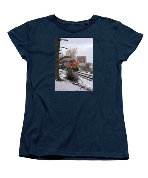 Bnsf 6338 - Train Photo Women's T-Shirt (Standard Cut) by Jane Eleanor Nicholas