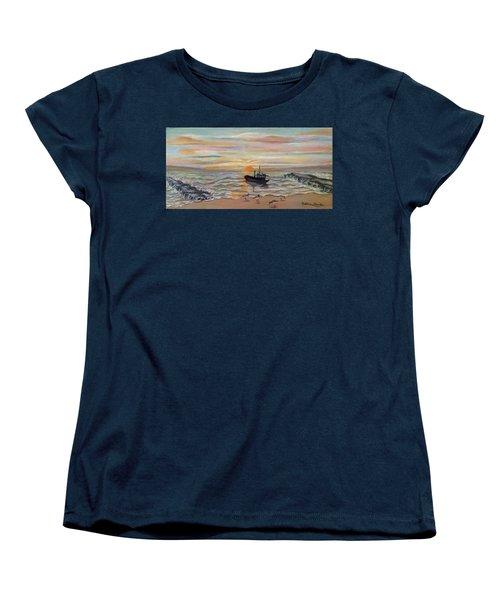 Boat At Dawn Women's T-Shirt (Standard Cut)