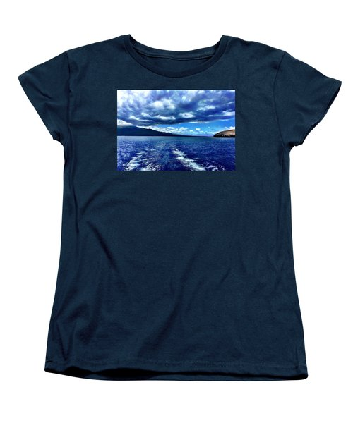Women's T-Shirt (Standard Cut) featuring the photograph Boat View by Michael Albright