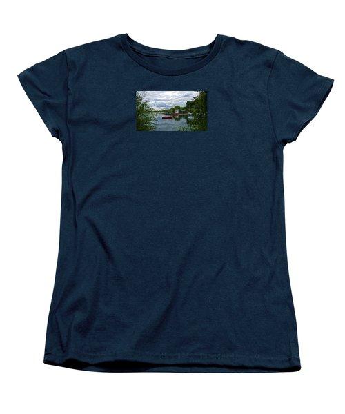 Boathouse Women's T-Shirt (Standard Cut) by Anne Kotan