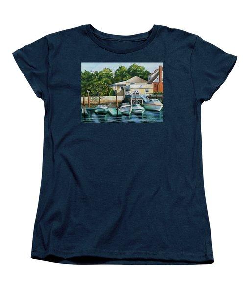 Boats On Crossbay Blvd. Women's T-Shirt (Standard Cut)