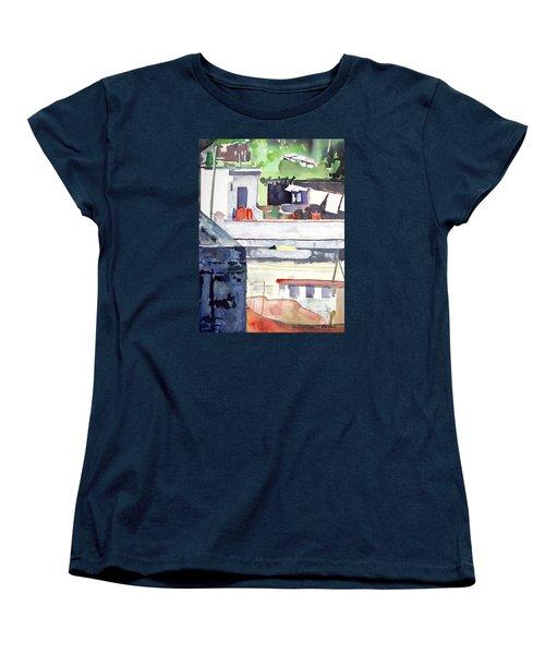 Boats On The Quay Women's T-Shirt (Standard Cut)