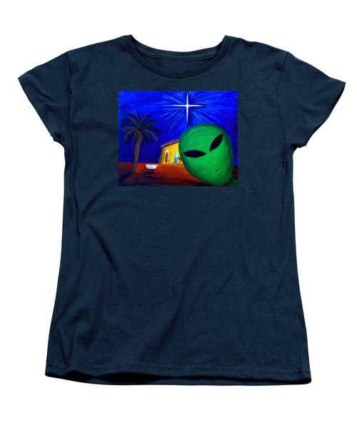 Bob At The Manger Women's T-Shirt (Standard Cut) by Lola Connelly