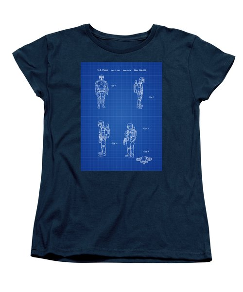Boba Fett Toy Patent 1982 In Blue Print Women's T-Shirt (Standard Cut) by Bill Cannon