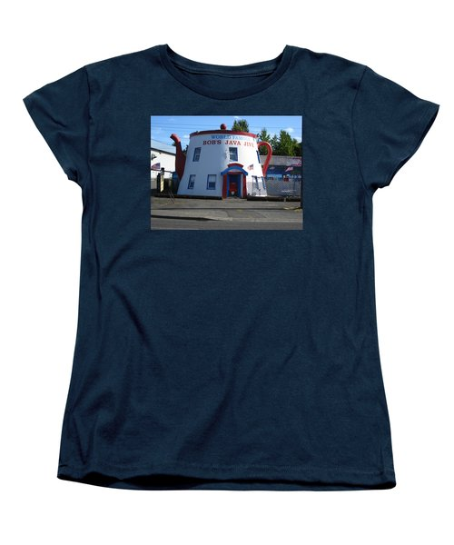 Bob's Java Jive Coffee Pot Women's T-Shirt (Standard Cut) by Kym Backland