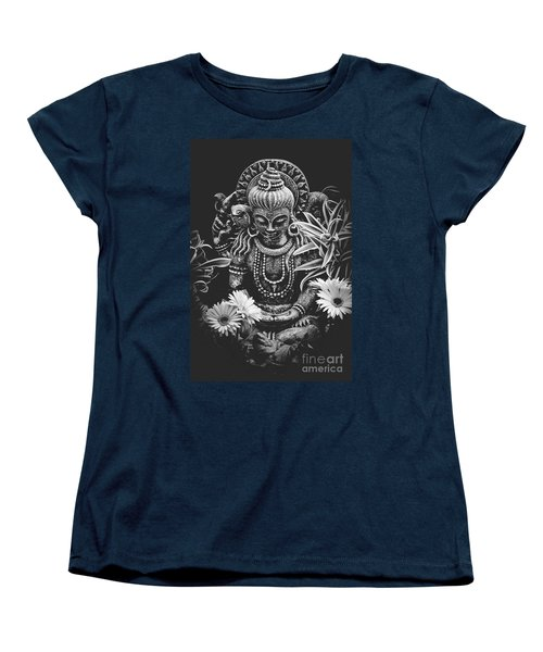 Women's T-Shirt (Standard Cut) featuring the photograph Bodhisattva Parametric by Sharon Mau