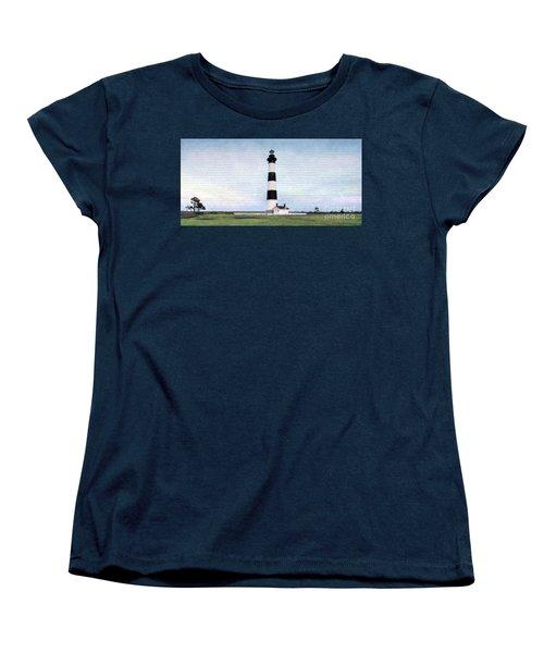 Bodie Island Lighthouse Mural Art Women's T-Shirt (Standard Cut) by Marion Johnson