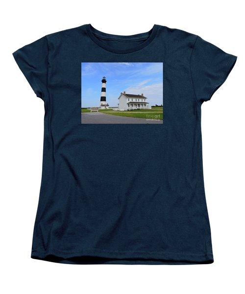 Bodie Island Lighthouse Women's T-Shirt (Standard Cut) by Shelia Kempf