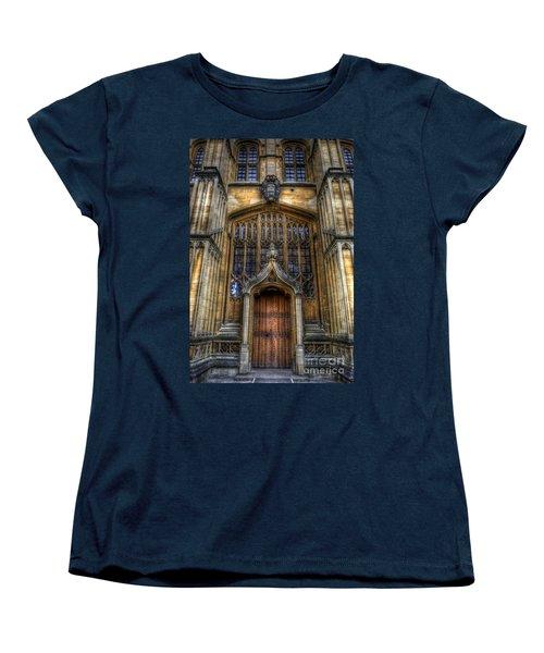 Bodleian Library Door - Oxford Women's T-Shirt (Standard Cut) by Yhun Suarez