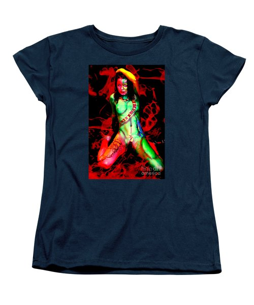 Body Paint 4 Women's T-Shirt (Standard Cut) by Tbone Oliver