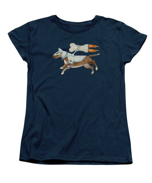 Women's T-Shirt (Standard Cut) featuring the painting Bone Commander - Apparel  by Jindra Noewi