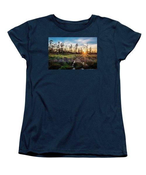 Bonnet Carre Sunset Women's T-Shirt (Standard Cut) by Andy Crawford