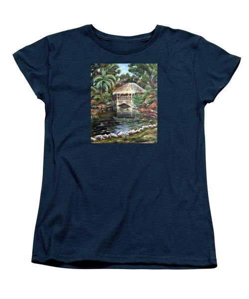 Bonnet House Chickee Women's T-Shirt (Standard Cut) by Patricia Piffath