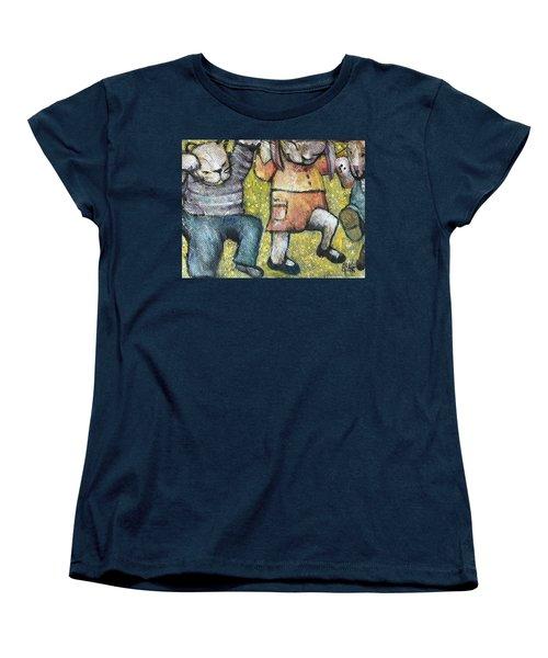 Women's T-Shirt (Standard Cut) featuring the painting Boogy Woogy by Eleatta Diver