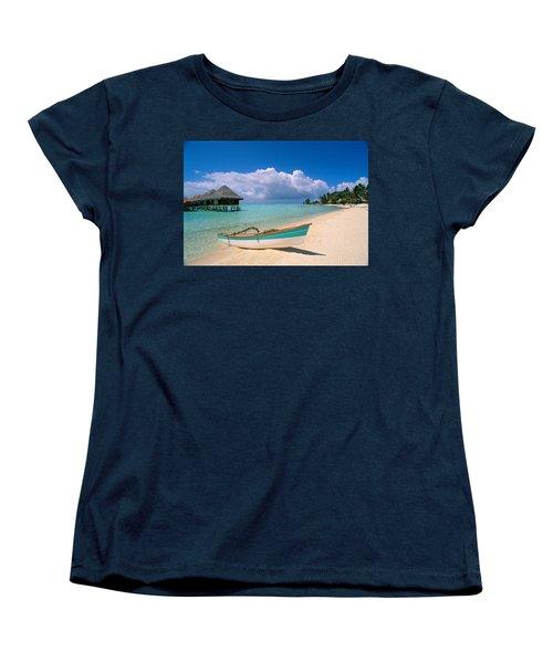Bora Bora, Hotel Moana Women's T-Shirt (Standard Cut) by Greg Vaughn - Printscapes