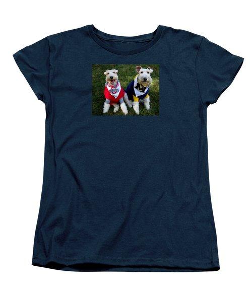 Border Battle Women's T-Shirt (Standard Cut) by Michiale Schneider