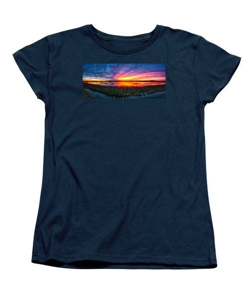 Women's T-Shirt (Standard Cut) featuring the photograph Bosque Sunrise by Kristal Kraft