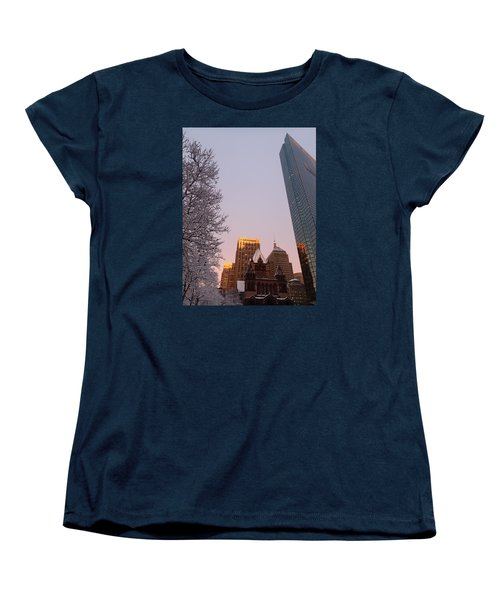 Boston 02/05/16 Women's T-Shirt (Standard Cut) by Robert Nickologianis