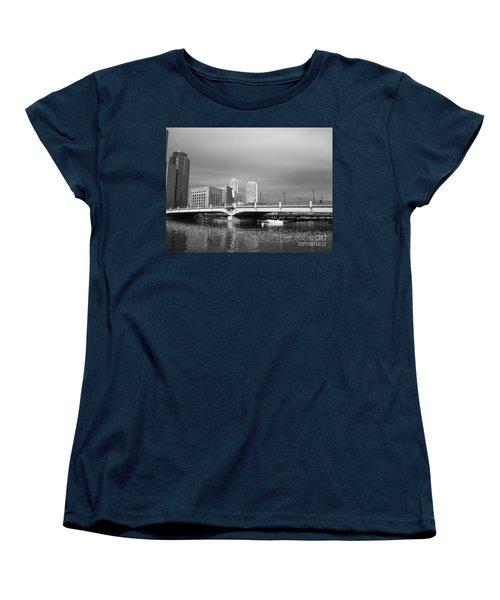 Boston Bridge Women's T-Shirt (Standard Cut) by Barbara Bardzik