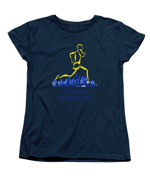 Boston Marathon5 Women's T-Shirt (Standard Cut) by Joe Hamilton