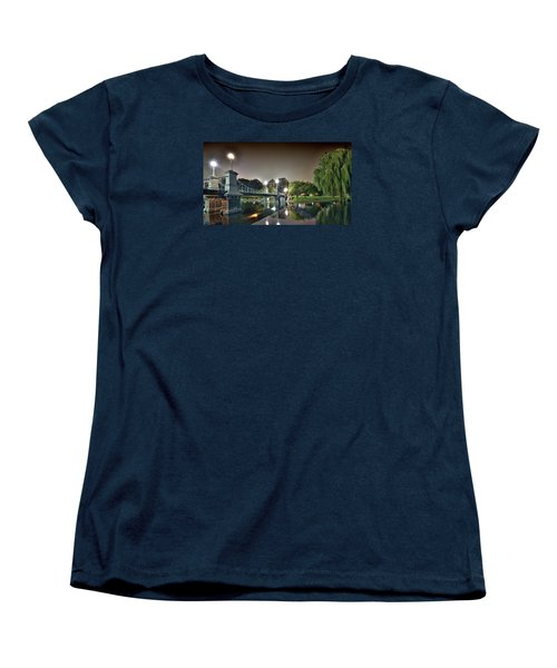 Boston Public Garden - Lagoon Bridge Women's T-Shirt (Standard Cut) by Brendan Reals
