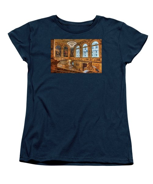 Women's T-Shirt (Standard Cut) featuring the photograph Boston Public Library Architecture by Joann Vitali