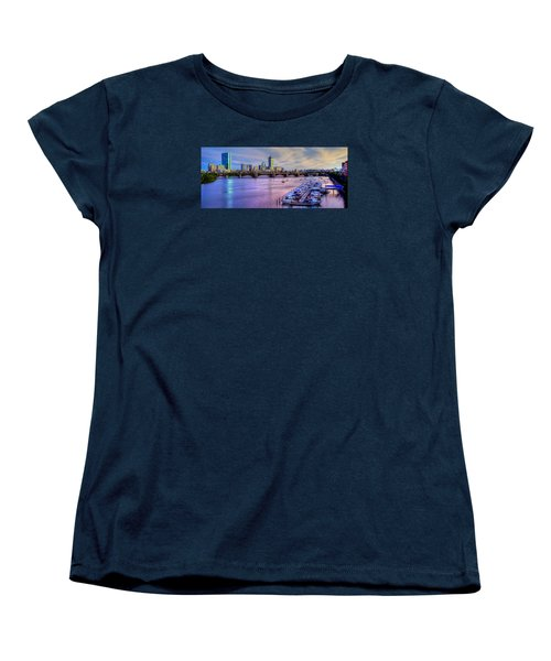 Boston Skyline Sunset Women's T-Shirt (Standard Cut) by Joann Vitali