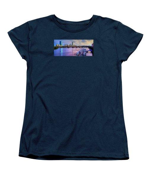 Boston Skyline Sunset Women's T-Shirt (Standard Cut)