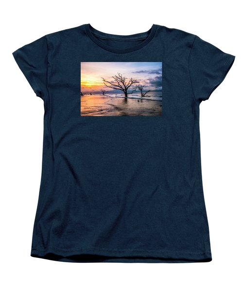 Women's T-Shirt (Standard Cut) featuring the photograph Botany Bay Dawn by Phyllis Peterson