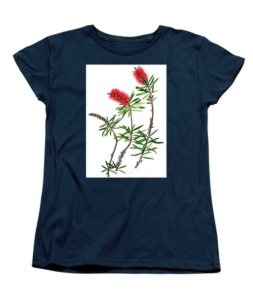 Women's T-Shirt (Standard Cut) featuring the painting Bottle Brush by Heidi Kriel