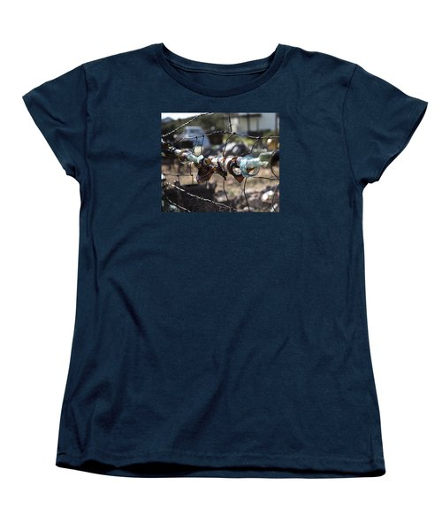 Women's T-Shirt (Standard Cut) featuring the photograph Bottle Fence by Annette Berglund