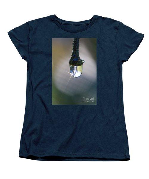 Bouganvillea Droplet Women's T-Shirt (Standard Cut) by Kym Clarke