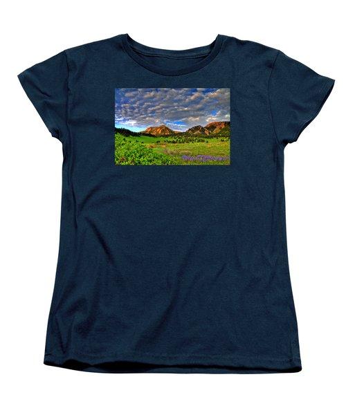 Boulder Spring Wildflowers Women's T-Shirt (Standard Cut) by Scott Mahon