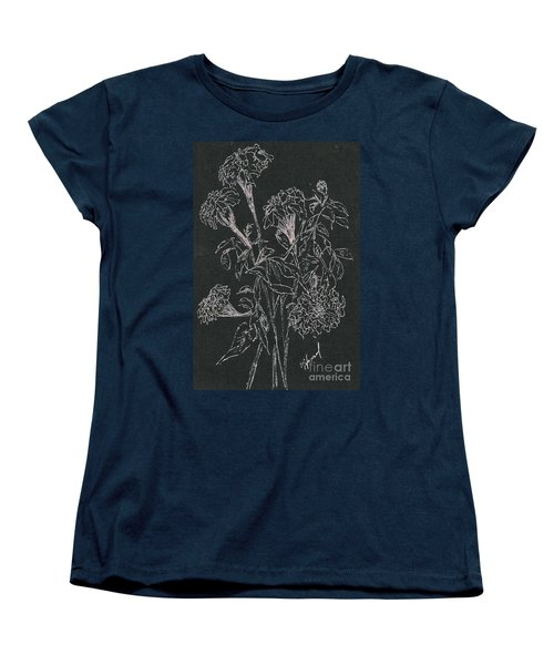 Women's T-Shirt (Standard Cut) featuring the painting Bouquet Of Flowers  by Vicki  Housel